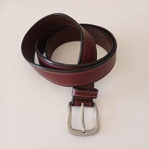 Eddie Bauer Women's Brown Leather belt